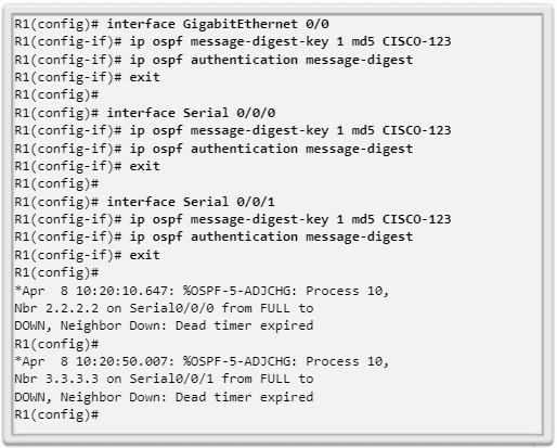 Configuración de autenticación MD5 de OSPF