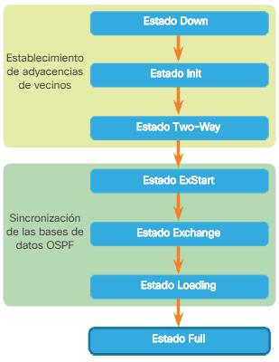 Transición estados OSPF