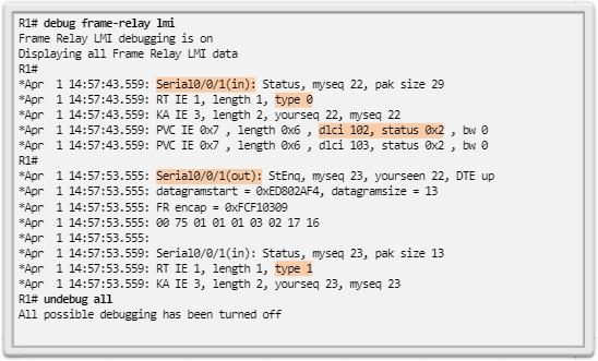 Comando debug frame-relay lmi