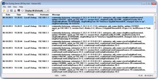 Visualización de mensajes del administrador de SNMP