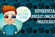Diferencia entre Unicast, Broadcast y Multicast