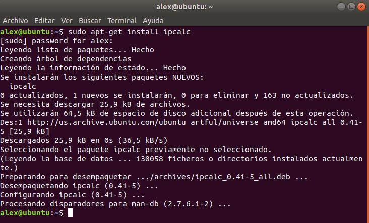 Instalar IPCalc en Linux