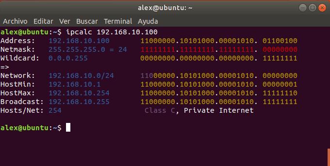 Uso de IPCalc