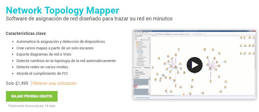 Herramienta Network Topology Mapper de SolarWinds