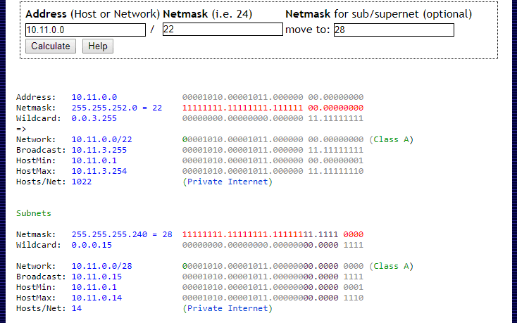 IP Calculator e IP Subnetting