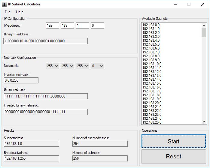IP Subnet Calculator para Windows