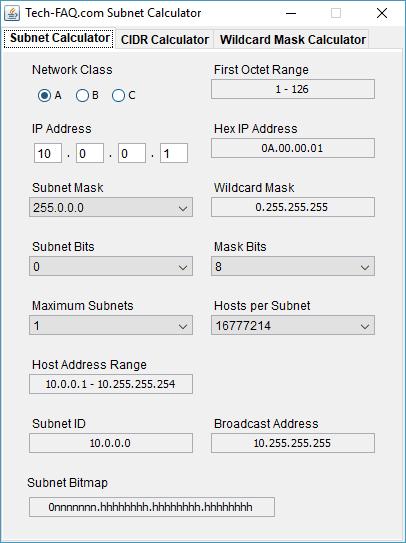 Subnet Calculator deTech-FAQ