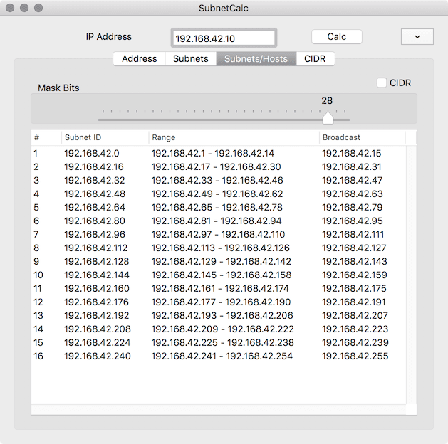 SubnetCalc para subnetting