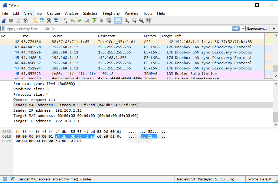 Sniffers de Paquetes con Wireshark