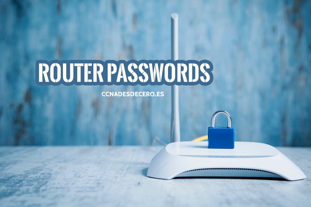 Lista de contraseñas router predeterminadas