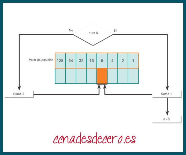 Conversión Decimal a Binaria 8