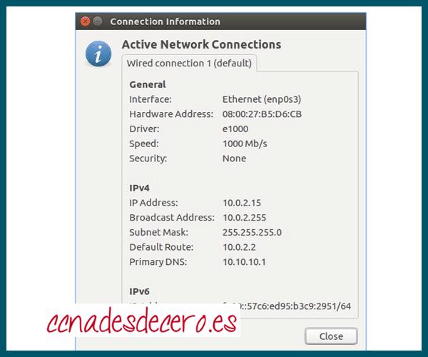 IP en host de Linux