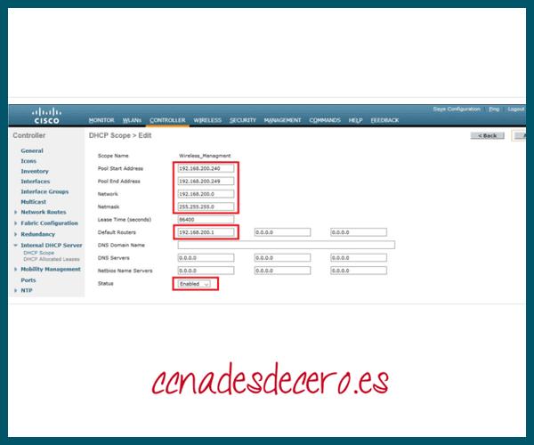 Configurar y activar nuevo ámbito DHCP