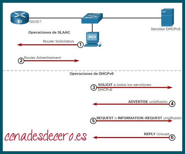DHCPv6 envía mensaje de REPLY
