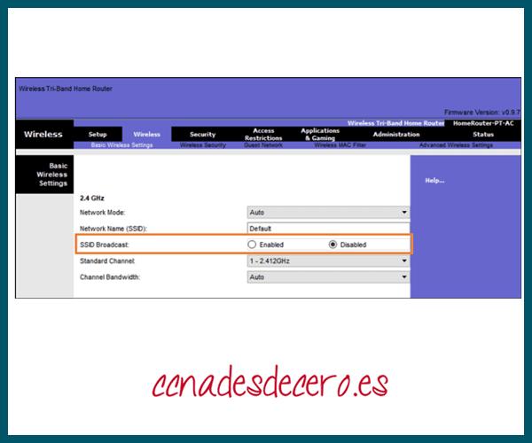 Encubrimiento SSID o SSID Cloaking