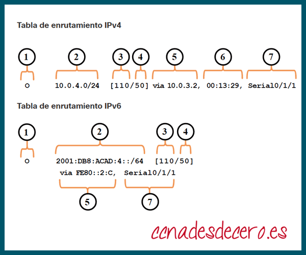 Entradas Tabla de Routing