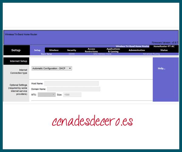 Router Doméstico como Cliente DHCPv4