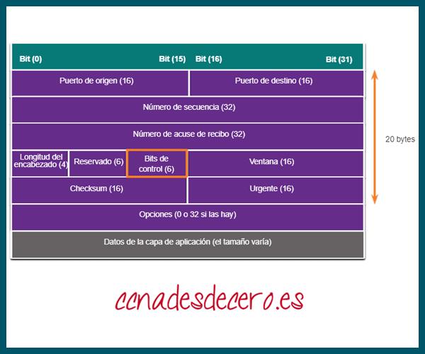Encabezado de Segmento TCP