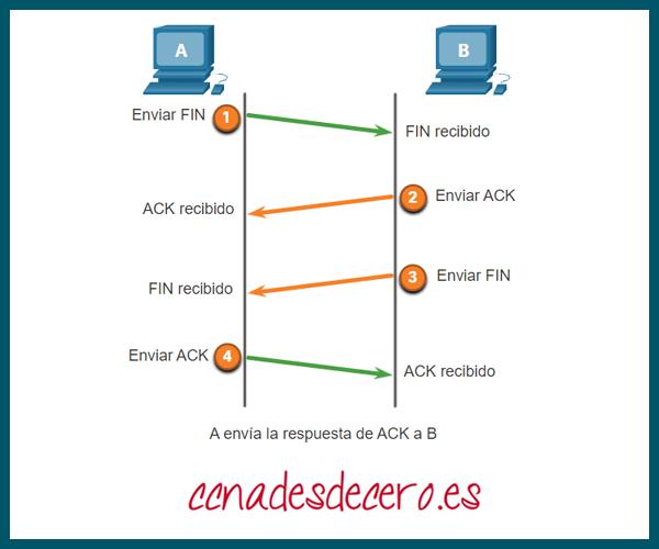 Finalizar Conexión TCP