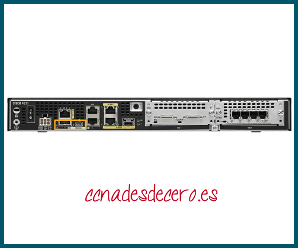 Puertos USB Router Cisco